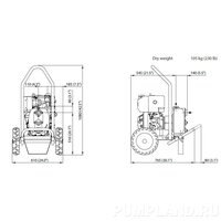 Мотопомпа Varisco JD 1-180 G10 MLD10 TROLLEY