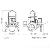Мотопомпа Varisco JD 2-215 P10 MLD31 TROLLEY