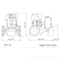 Мотопомпа Varisco JD 3-140 G10 MLD10 TROLLEY