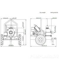 Мотопомпа Varisco JD 5-180 G10 MLD15 TRAILER
