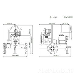 Мотопомпа Varisco JD 6-250 G10 FVM06 TRAILER