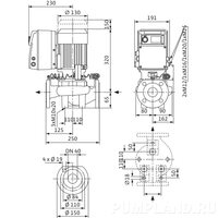 Центробежный насос Wilo VeroLine-IP-E 40/115-0,55/2-R1